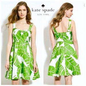 KATE SPADE Palm Print Fleur Dress 6